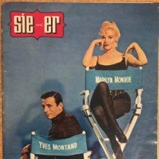 Coleccionismo de Revista Tiempo: REVISTA SIE UND ER 22 SEPTIEMBRE 1960 NUMERO 39 PORTADA MARILYN MONROE YVES MONTAND MULTIMILLONARIO. Lote 238151120