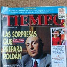 Coleccionismo de Revista Tiempo: REVISTA TIEMPO. N. 754. 14 DE OCTUBRE DE 1196. LAS SORPRESAS QUE PREPARA ROLDAN. Lote 240823640