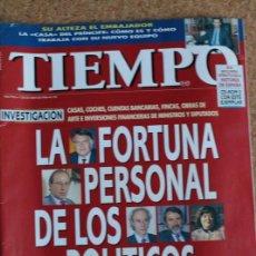 Coleccionismo de Revista Tiempo: REVISTA TIEMPO. N. 753. 7 DE OCTUBRE DE 1996. LA FORTUNA PERSONAL DE LOS POLITICOS. Lote 240824050