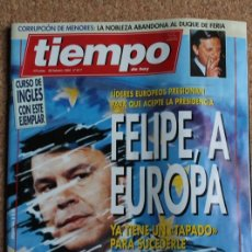 Coleccionismo de Revista Tiempo: REVISTA TIEMPO. N. 617. 28 DE FEBRERO DE 1994. FELIPE, A EUROPA. Lote 240824330