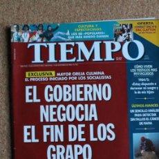 Coleccionismo de Revista Tiempo: REVISTA TIEMPO. N. 762. 9 DE DICIEMBRE DE 1996. EL GOBIERNO NEGOCIA EL FIN DE LOS GRAPO. Lote 240826000