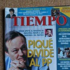 Coleccionismo de Revista Tiempo: REVISTA TIEMPO. N. 761. 2 DE DICIEMBRE DE 1996. PIQUÉ DIVIDE AL PP. Lote 240827215
