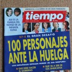 Coleccionismo de Revista Tiempo: REVISTA TIEMPO. N. 613. 31 DE ENERO DE 1994. 100 PERSONAJES ANTE LA HUELGA. Lote 240829280