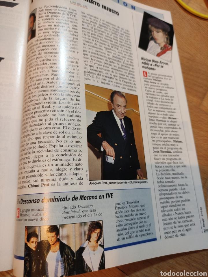 Coleccionismo de Revista Tiempo: Revista Tiempo 1988 Ana Belén, Rocío Jurado, Mecano, Sabrina Salerno, La duquesa de Alba - Foto 5 - 242919595