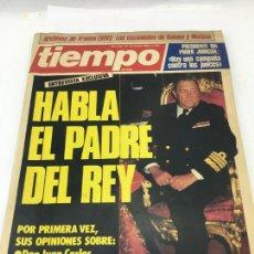 Coleccionismo de Revista Tiempo: REVISTA TIEMPO Nº 149 - 24 MARZO DE 1985 - HABLA EN PADRE DEL REY - OPINIONES SOBRE FRANCO, GOBIERNO. Lote 246629780