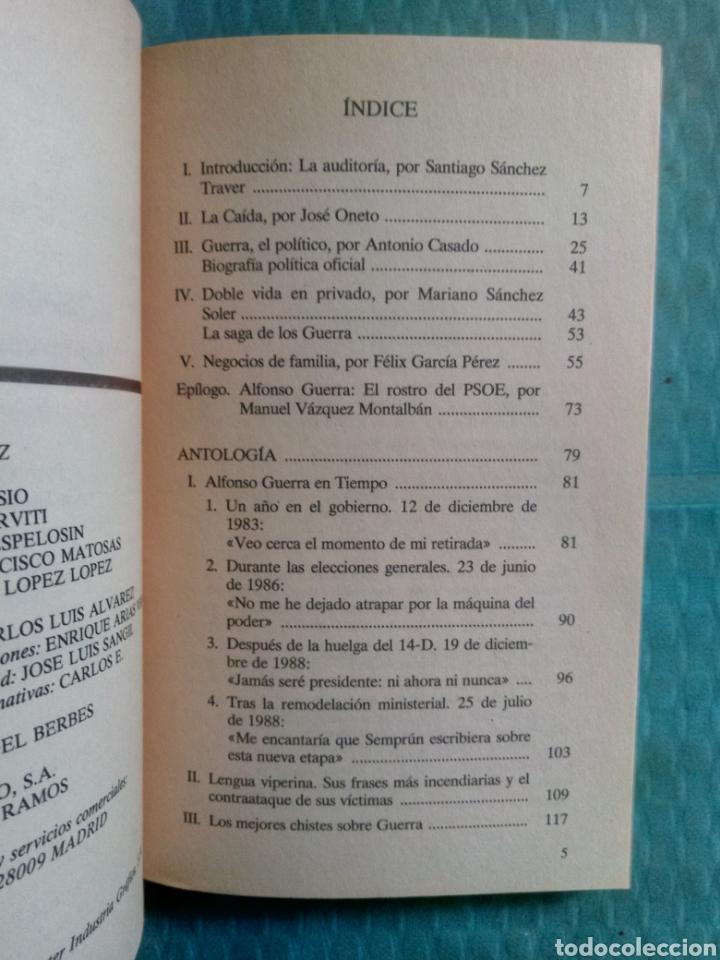 Coleccionismo de Revista Tiempo: PROCESO A ALFONSO GUERRA, EDICIONES TIEMPO 1991, ASCENSIÓN Y CAÍDA DE UN VICEPRESIDENTE. - Foto 3 - 254784390