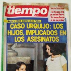 Colecionismo da Revista Tiempo: REVISTA TIEMPO Nº 160 CRIMEN URQUIJO JOAQUÍN SABINA REAL MADRID MISS ESPAÑA SYLVIA KRISTEL FRAGA. Lote 263022590