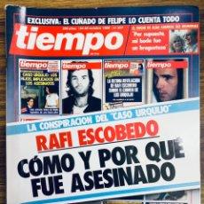 Coleccionismo de Revista Tiempo: REVISTA TIEMPO 337 CASO URQUIJO ETA MARIBEL VERDÚ JOSÉ CARRERAS ROCIO JURADO DUQUE DE ALBA PETROVIC. Lote 268119564