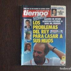 Colecionismo da Revista Tiempo: REVISTA TIEMPO, Nº 422 DE JUNIO 1990, LOS PROBLEMAS DEL REY PARA CASAR A SUS HIJOS.. Lote 272086268