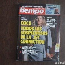 Colecionismo da Revista Tiempo: REVISTA TIEMPO, Nº 425 DE JUNIO 1990, COCA, TODOS LOS SOSPECHOSOS DE LA JET CONNECTION.. Lote 272086533
