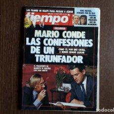 Coleccionismo de Revista Tiempo: REVISTA TIEMPO, Nº 414, 9 ABRIL 1990, MARIO CONDE, LAS CONFESIONES DE UN TRIUNFADOR.. Lote 288627793