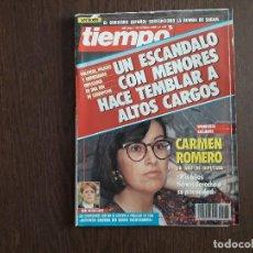 Coleccionismo de Revista Tiempo: REVISTA TIEMPO, Nº 443, OCTUBRE 1990. ENTREVISTA A CARMEN ROMERO. POLÍTICOS IMPLICADOS EN RED CORRU.. Lote 296730583