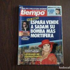 Coleccionismo de Revista Tiempo: REVISTA TIEMPO, Nº 442, 22 OCTUBRE 1990. ESPAÑA VENDE A SADAM SU ARMA MÁS MORTÍFERA.. Lote 296730688