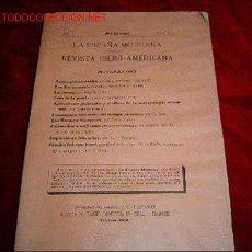 Coleccionismo de Revistas y Periódicos: LA ESPAÑA MODERNA. Lote 3292989