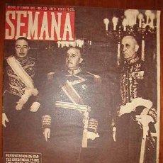 Coleccionismo de Revistas y Periódicos: REVISTA SEMANA.. Lote 8269369