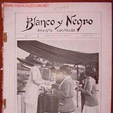 Coleccionismo de Revistas y Periódicos: REVISTA BLANCO Y NEGRO, ILUSTRADA. Lote 9383653
