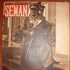 Coleccionismo de Revistas y Periódicos: DIARIO SEMANA, CON NOTÍCIAS DE LA 2ª GUERRA MUNDIAL. Lote 8663539