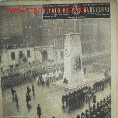 Coleccionismo de Revistas y Periódicos: DIARIO DE BARCELONA -CONMEMORACIÓN ARMISTICIO I GUERRA MUNDIAL-. Lote 18239101