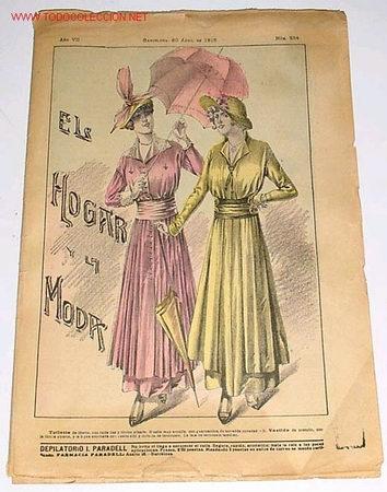 ANTIGUA REVISTA - EL HOGAR Y LA MODA - 1915 (Coleccionismo - Revistas y Periódicos Antiguos (hasta 1.939))
