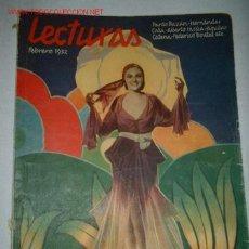 Coleccionismo de Revistas y Periódicos: ANTIGUA REVISTA LECTURAS FEBRERO 1932.. Lote 625827