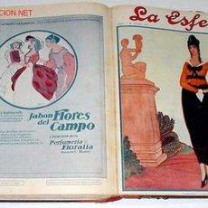 Coleccionismo de Revistas y Periódicos: 15 REVISTAS LA ESFERA - ENCUADERNADAS - 1914. Lote 27526248