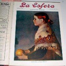 Coleccionismo de Revistas y Periódicos: 15 REVISTAS LA ESFERA - ENCUADERNADAS - 1916. Lote 27301826