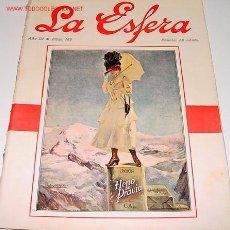 Coleccionismo de Revistas y Periódicos: ANTIGUA REVISTA LA ESFERA - Nº 122 - 29 ABRIL 1916 - PERIODISMO . 37X28 CM. ARTÍCULOS, FOTOS Y DIBU. Lote 1035225