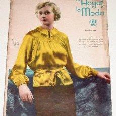 Coleccionismo de Revistas y Periódicos: ANTIGUA REVISTA EL HOGAR Y LA MODA Nº 52 - 5 DICIEMBRE 1935 - 52 PAGINAS - 34 X 24 CMS. S.G. PUBLICA. Lote 1080109