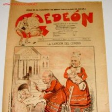 Coleccionismo de Revistas y Periódicos: ANTIGUO PERIODICO GEDEON Nº 20 - 26 MARZO 1896- EL PERIODICO DE MENOS CIRCULACION EN ESPAÑA - SATIR. Lote 1096201