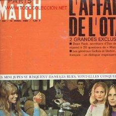 Coleccionismo de Revistas y Periódicos: REVISTA MAGAZINE / PARIS MATCH AÑO 1966 / PRIMERAS MINIFALDAS EN PARIS . Lote 24134213