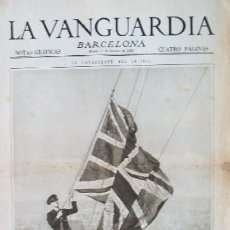 Coleccionismo de Revistas y Periódicos: LA VANGUARDIA - AÑO 1929 - EN PORTADA: LA CATASTROFE DEL DIRIGIBLE INGLES - R 101. Lote 26373210