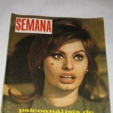 Coleccionismo de Revistas y Periódicos: SEMANA Nº 1414 DE 25/03/1067. PSICOANÁLISIS DE SOFIA LOREN, SOLEDAD MIRANDA, JOSELITO, EL CORDOBÉS. Lote 24466028