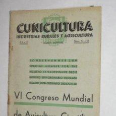 Coleccionismo de Revistas y Periódicos: REVISTA MENSUAL. CUNICULTURA, INDUSTRIAS RURALES Y AGRICULTURA. JULIO 1936. CONEJO. Lote 24728617