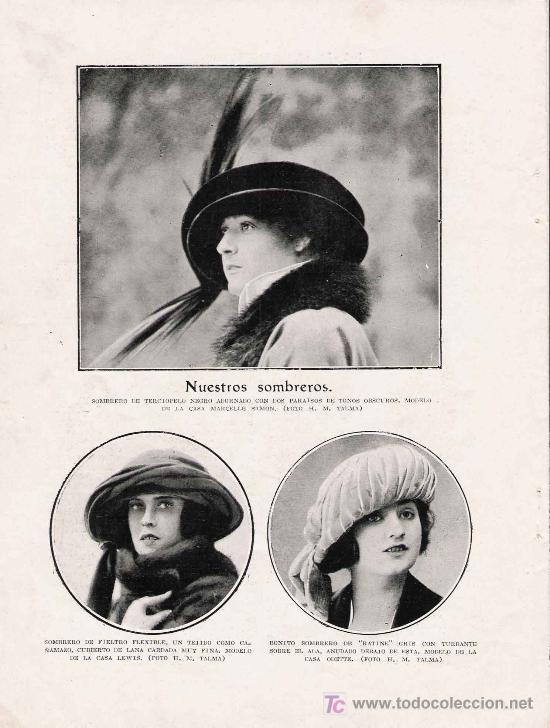 últimos diseños diversificados Estados Unidos talla 7 Moda: Modelos de sombreros ( años 20)