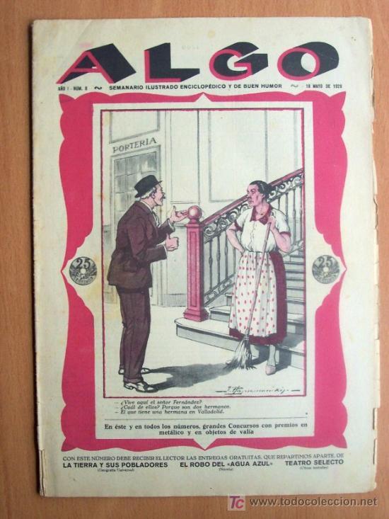 ALGO Nº 8 - SEMNARIO ILUSTRADO ENCICLOPEDICO Y DE BUEN HUMOR - 18 MAYO 1929 - 16 PÁGINAS (Coleccionismo - Revistas y Periódicos Antiguos (hasta 1.939))