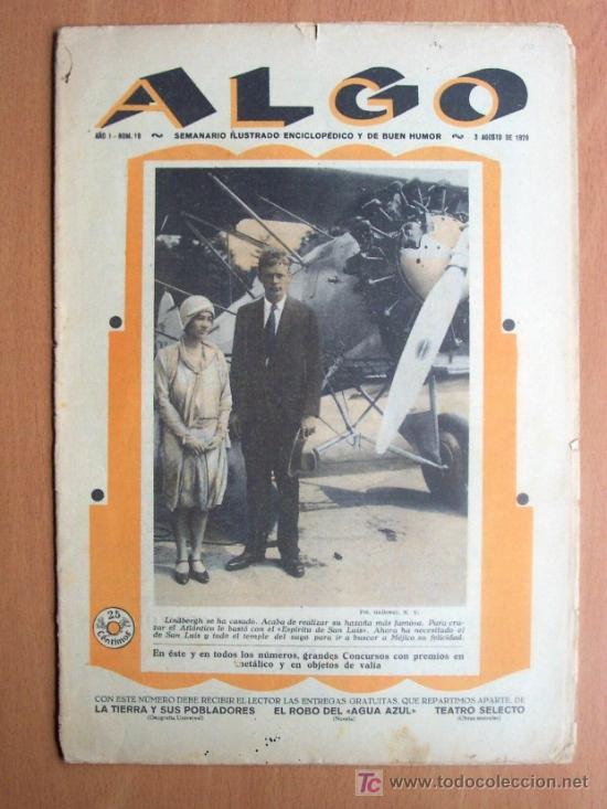 ALGO Nº 19 - SEMANARIO ILUSTRADO ENCICLOPEDICO Y DE BUEN HUMOR - 3 AGOSTO 1929 - 16 PÁGINAS (Coleccionismo - Revistas y Periódicos Antiguos (hasta 1.939))