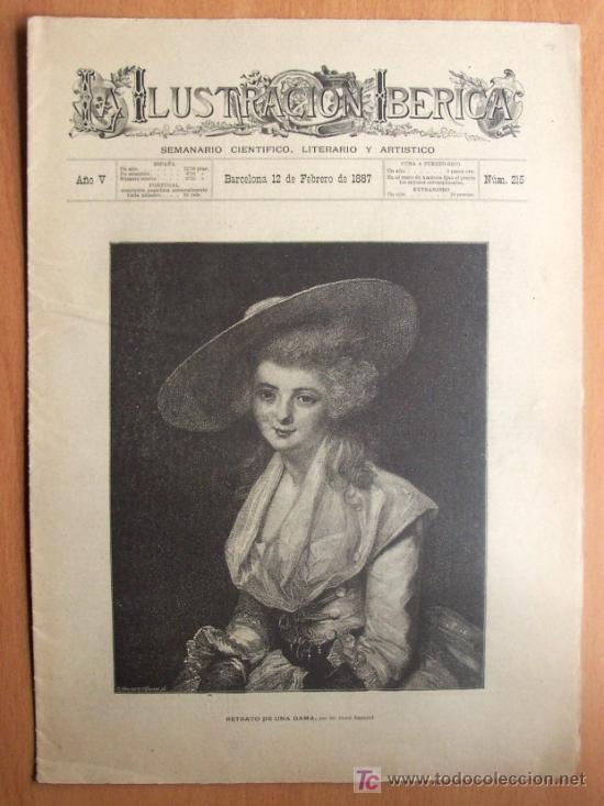 ILUSTRACION IBÉRICA Nº 215 - BARCELONA 12 DE FEBRERO 1887 - 16 PÁGINAS - 26 X 36 CM. (Coleccionismo - Revistas y Periódicos Antiguos (hasta 1.939))