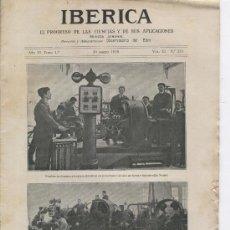 Coleccionismo de Revistas y Periódicos: REVISTA IBERICA. 1919. EL REY ALFONSO XIII EN EL INSTITUTO CATOLICO DE ARTES E INDUSTRIAS.MADRID.271. Lote 13599088