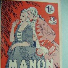 Coleccionismo de Revistas y Periódicos: 5583 MANON LESCAUT - EDITORIAL ALAS - AÑOS 1945 - MAS EN MI TIENDA TC COSAS&CURIOSAS. Lote 5819268