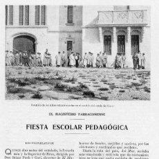 Coleccionismo de Revistas y Periódicos: REUS 1908 MAGISTERIO 4 HOJAS REVISTA. Lote 11259169