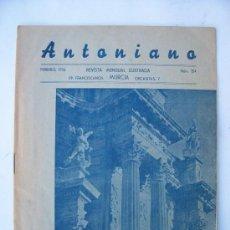 Coleccionismo de Revistas y Periódicos: ANTONIANO, REVISTA MENSUAL ILUSTRADA MURCIA, Nº154 , FEB 1956. Lote 20271062