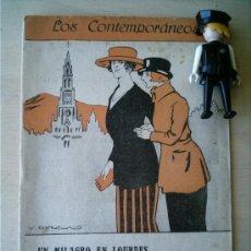 Coleccionismo de Revistas y Periódicos: REVISTA LITERARIA LOS CONTEMPORANEOS. 24-MAR-1921. UN MILAGRO EN LOURDES. AUGUSTO OLMEDILLA . Lote 4676507