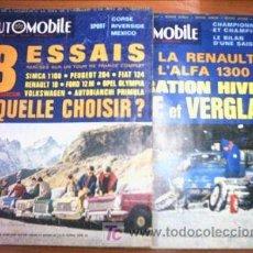 Coleccionismo de Revistas y Periódicos: L'AUTOMOVILE.LOTE 2 REVISTAS Nº 260 Y 261. EN FRANCES. Lote 4695920