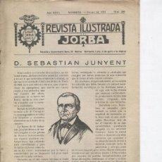 Coleccionismo de Revistas y Periódicos: REVISTA JORBA 292 AÑO 1934 SEBASTIAN JUNYENT NACIDO EN CALAF LA LEYENDA DE LORELEY FABRICA DE GAS. Lote 56467661