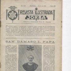 Coleccionismo de Revistas y Periódicos: REVISTA JORBA 236 AÑ 1929 SAN DAMASO I ARGELAGUER ISAAC PERAL JUAN DE IRIARTE ISLAS CANARIAS OROTAVA. Lote 22011921