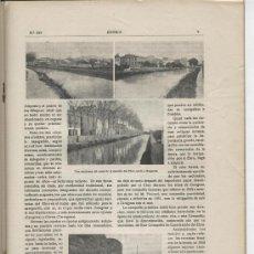 Coleccionismo de Revistas y Periódicos: REVISTA IBERICA. 334. AÑO 1920. LA NAVEGACION POR EL EBRO. ROQUETAS. F.VICENTE BENET. TORTOSA. . Lote 22532643