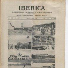 Coleccionismo de Revistas y Periódicos: REVISTA IBERICA. 1095. AÑO 1935. LA CAMPAÑA ITALO ETIOPE. ADDIS-ABEBA. ETIOPIA.AGUAS DE BARCELONA.. Lote 20487790