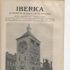 Coleccionismo de Revistas y Periódicos: IBERICA.1091.AÑO 1935.LUIS ZIMMER.EL GENIAL RELOJERO DE LIERRE .RELOJES.RELOJ AGUAS DE BARCELONA. Lote 20487829