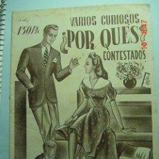 Coleccionismo de Revistas y Periódicos: 8104 CUADERNILLO ¿ POR QUÉS ? CURIOSA REVISTA DE PREGUNTAS Y RESPUESTAS 1945 C&C. Lote 5468819
