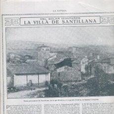 Coleccionismo de Revistas y Periódicos: HOJA NOTICIA. REPORTAJE DE SANTILLANA. AÑO 1915,. Lote 4797779